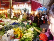 Me in Hong kong food market. Just to show the vibe of the market!