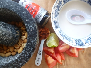 Ingredients for an amazing peanut sauce