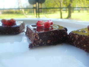 Raw Food- detox brownie squares