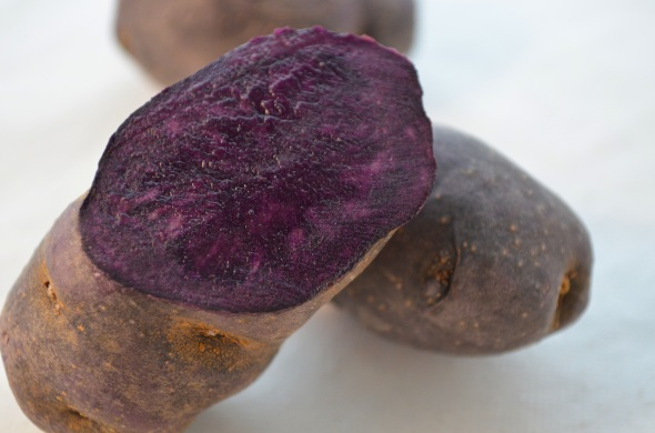 Purple potatoes.
