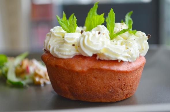 Savoury red-beet velvet cupcake