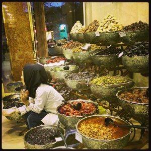 Shopping heavenly pickles in  Shiraz